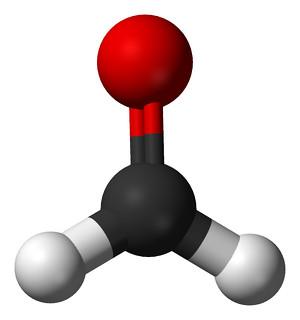 Formaldeide (CH2O), immagine molecolare tridimensionale