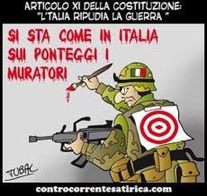 Si sta come in Italia sui ponteggi i muratori