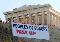 Proteste sull'Acropoli.