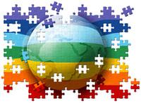 mondo puzzle di pace