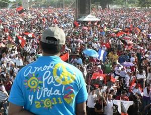 Sandinisti in piazza per il 32º anniversario (Foto G. Trucchi)