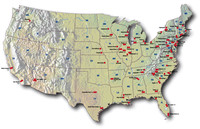 US nuclear map