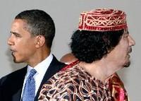 Obama e Gheddafi