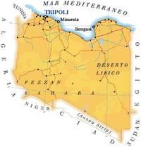 Libia, carta geografica
