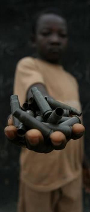 Bambino in un campo di ribelli nel nord-est della Repubblica Centrafricana
