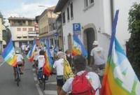 Partecipanti a un'edizione di Pace in bici