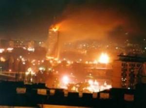 Tv libica bombardata dalla Nato,
