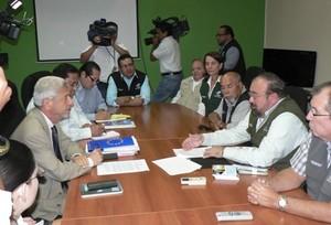 Riunione tra la delegazione della UE e i magistrati del CSE © (Foto G. Trucchi)