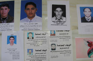 Hundred of missing person photos in Tripoli Hospital