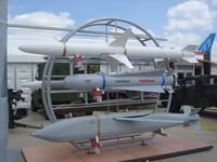 Raytheon missiles on display