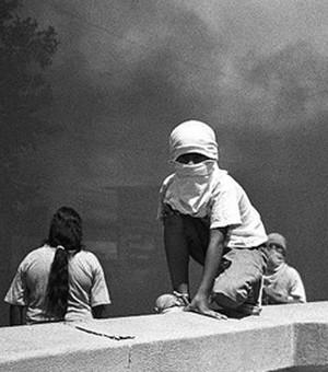 Foto scattata durante le proteste in Argentina del 2001