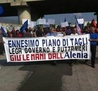 sciopero lavoratori Alenia