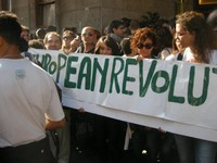 15 ottobre 2011. Manifestazione di Roma. People of Europe rise up.