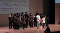 ragazzi di Fukushima sul palco della sessione plenaria di apertura