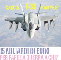 La campagna contro i caccia F-35 chiede di essere ascoltata dal Parlamento