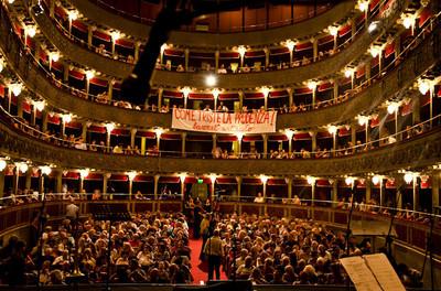 La partecipazione al Teatro Valle