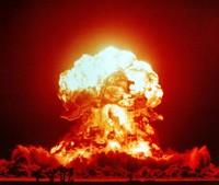 Fungo atomico generato durante un test nucleare degli Stati Uniti
