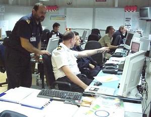 Il comando Nato di Taranto al lavoro sul sistema C4i - Command, Control, Computer, Communication, Intelligence.