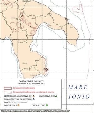 seconda mappa, novembre 2011 (sito Min. Sviluppo Economico)