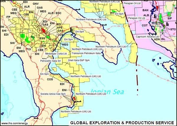 terza mappa, giugno 2010 (estratto da mappa IHS Global, sito Min. Sviluppo Economico)