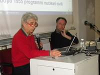 """il prof. Angelo Baracca alla conferenza """"A un anno da Fukushima"""""""