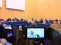 Vienna, NPT PrepCom 2012. Momenti delle conferenze nella sala M2