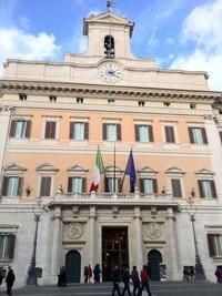 Palazzo Montecitorio, sede del Parlamento italiano