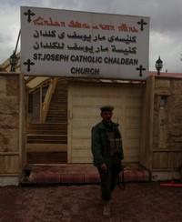 L'entrata della chiesa caldea di Sulaimaniya