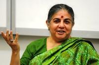 Vandana Shiva ha parlato di guerre, di armi, di uomini e di pace