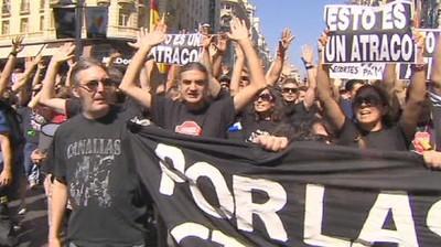 Dimostrazioni di piazza in Spagna