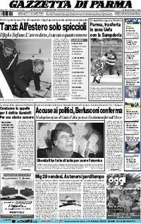 Prima pagina gazzetta di parma 21 febbraio 2004
