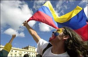 Tifo sportivo a Bogotà