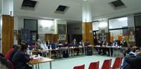 un momento del consiglio comunale di Laterza con la partecipazione di Peacelink