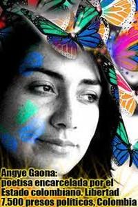 Colombia: storia di Angye Gaona, poetessa incarcerata dallo stato