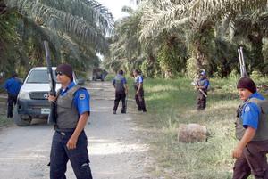 Guardie private nel Bajo Aguán (Foto FIAN Honduras)