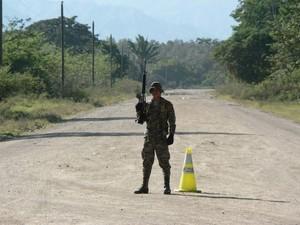 Militarizzazione del Bajo Aguán, Honduras © (Foto G. Trucchi)