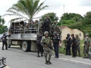 Militarizzazione in Honduras © (Foto G. Trucchi)
