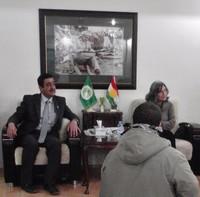"La ""First Lady"" Hero Ahmed Ibrahim. Alla sua destra Khder Kareem, sindaco di Halabja"
