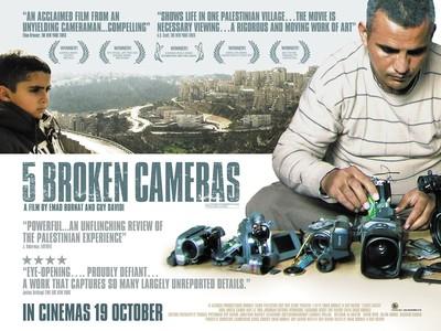 """la locandina del film """"Five broken cameras"""""""