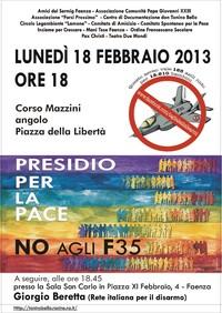 Una giornata contro F-35 e spese militari, a Faenza