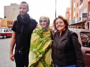 Con Aminatou Haidar