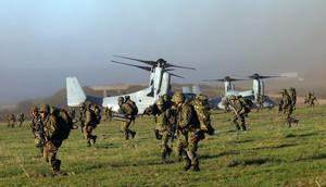Marine statunitensi e truppe giapponesi hanno partecipato a un'esercitazione congiunta nel mese di febbraio a Camp Pendleton, in Califonria.