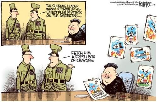 Il leader supremo vuole elaborare il suo ultimo piano d'attacco sugli americani... Rimediagli una scatola di colori nuovi.