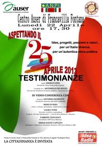 Moni Ovadia e Antonio Pizzinato: Aspettando il 25 Aprile 2013 - CENTRO AUSER DI FRANCAVILLA FONTANA (Brindisi)