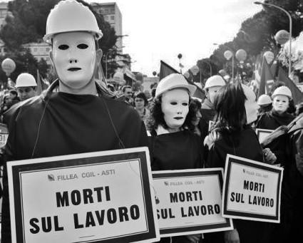 manifestazione per la sicurezza sul lavoro