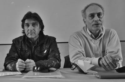 Alessandro Marescotti e Fabio Matacchiera in conferenza stampa