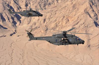 un elicottero mangusta in azione