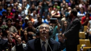 Ríos Montt durante il processo (Efe)