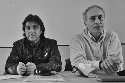 Alessandro Marescotti e Fabio Matacchiera in una conferenza stampa
