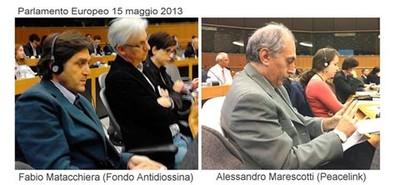 Alessandro Marescotti e Fabio Matacchiera al Parlamento Europeo